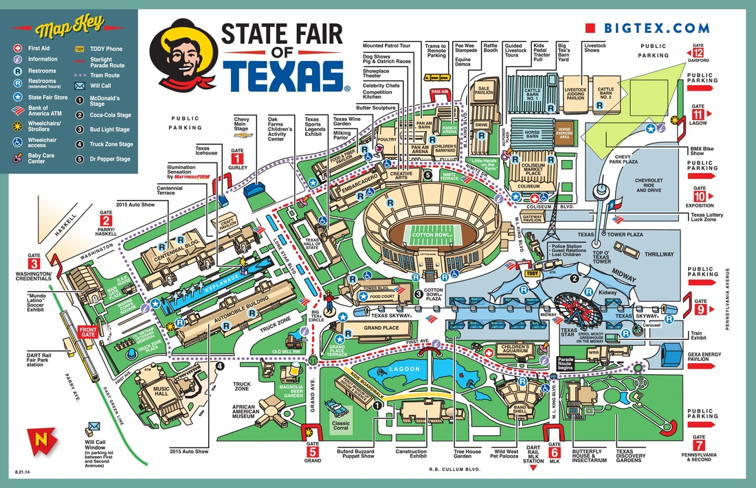 State Fair Map AHCT - Map of tex
